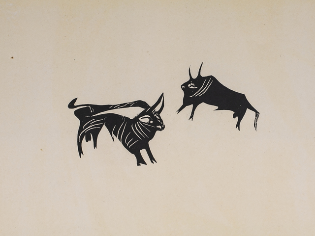 Pablo Picasso, 'Deux Petits Taureaux (Two Little Bulls), 1949 Limited edition Lithogrph by Pablo Picasso', 1949, White Cross