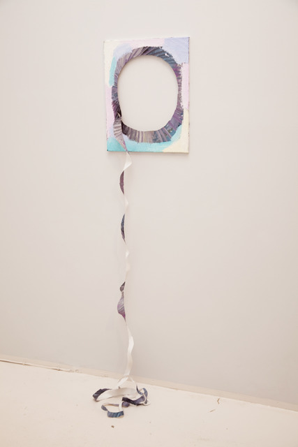 , 'A painting with a spiral cut out,' 2012, Winkleman Gallery