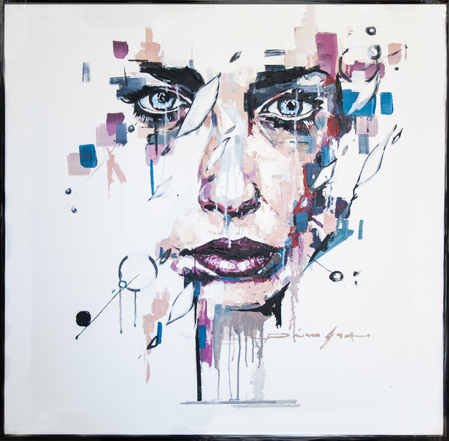, 'Blue Eyes Woman,' 2018, Opulent Living Gallery