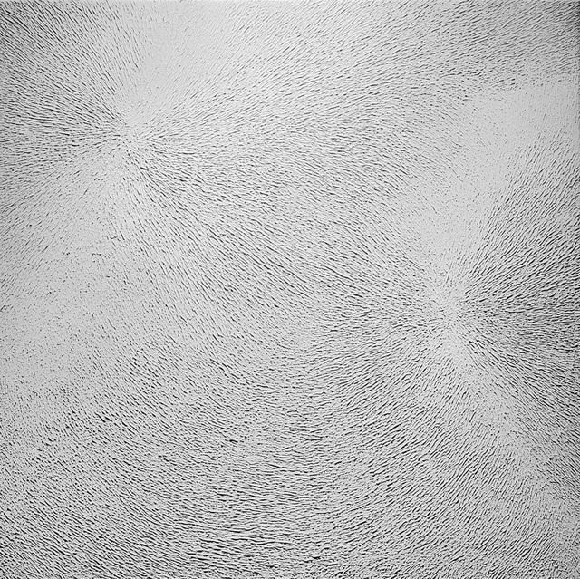 , 'Two centers white rotation,' 1981, Dan Galeria