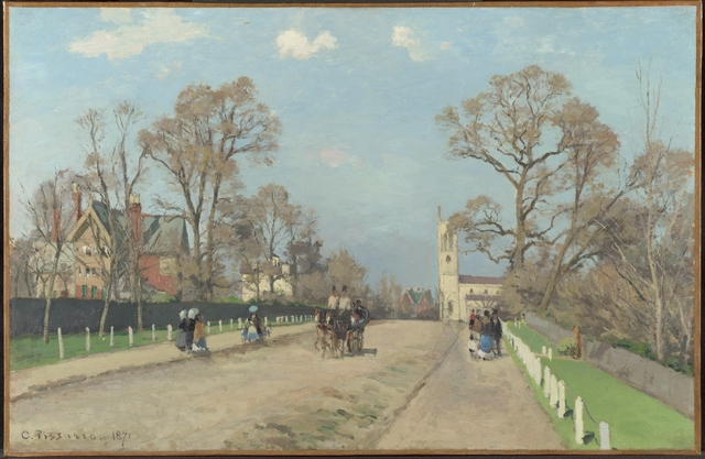 Camille Pissarro, 'The Avenue, Sydenham', 1871, The National Gallery, London
