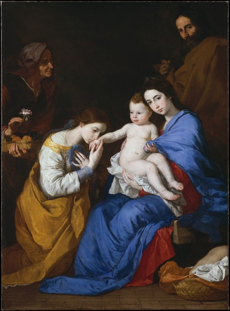 Jusepe de Ribera, 'The Holy Family with Saints Anne and Catherine of Alexandria', 1648, The Metropolitan Museum of Art