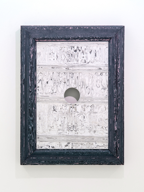 , 'A Hole in Wood With Black Wood Frame,' 2018, Sullivan+Strumpf