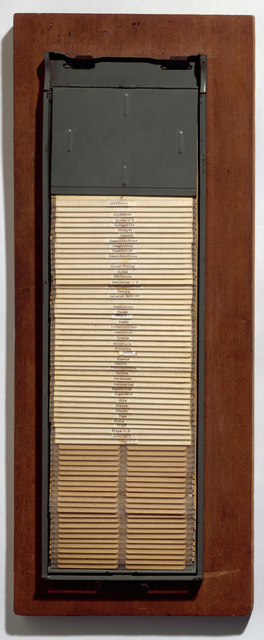 , 'Card File ,' 1962, National Gallery of Art, Washington, D.C.