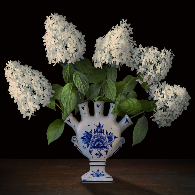 , 'Hydrangeas in a Dutch Tuliperie,' 2017, Galerie de Bellefeuille