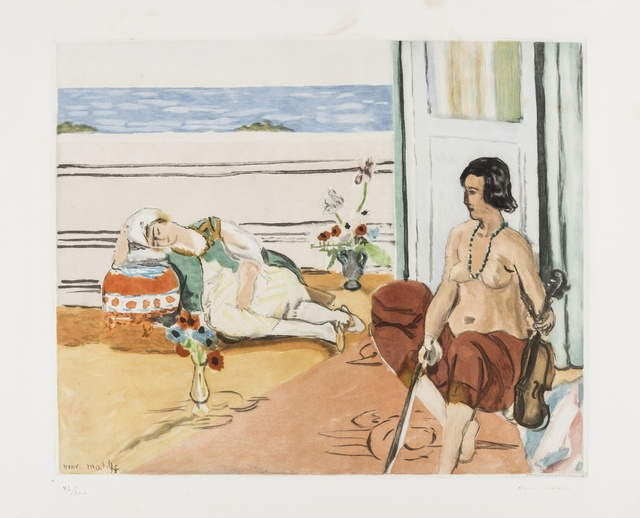 Jacques Villon, 'Odalisque sur la terrasse (G & P 633)', 1922, Print, Lithograph printed in colours on Arches paper, Forum Auctions