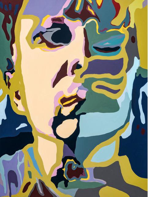 Damon Arhos, 'Agnes Moorehead & Me (No. 1/Figure Portrait) ', 2019, Painting, Acrylic on hardboard panel, Catalyst Contemporary