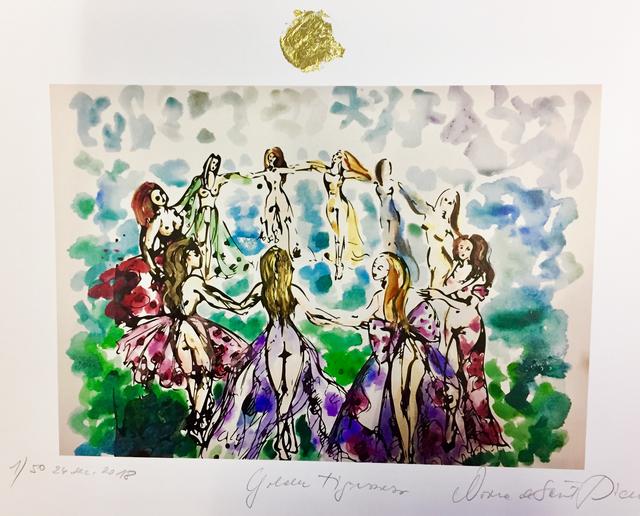Norma de Saint Picman, 'Golden Tigresses - le circle d'énergie féminine IV', 2018, Noravision Gallery