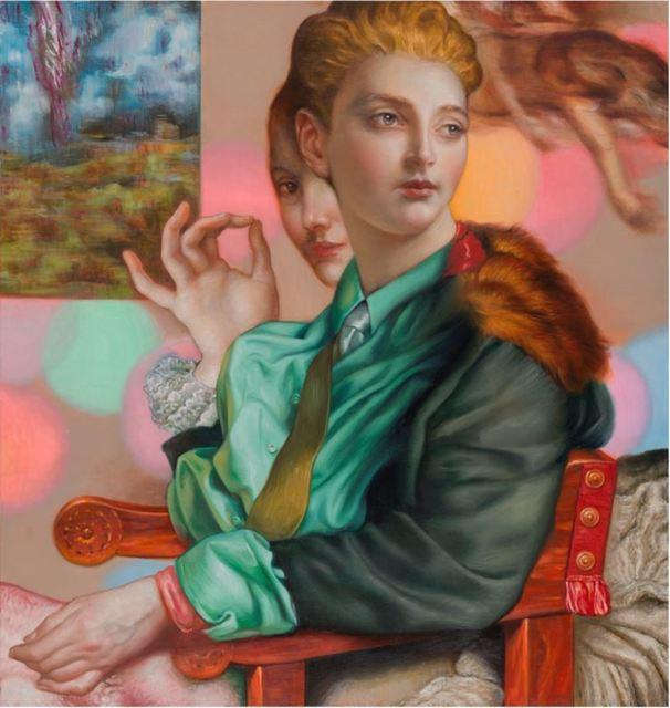 , 'Bubba Green Shirt,' 2018, Jonathan LeVine Projects