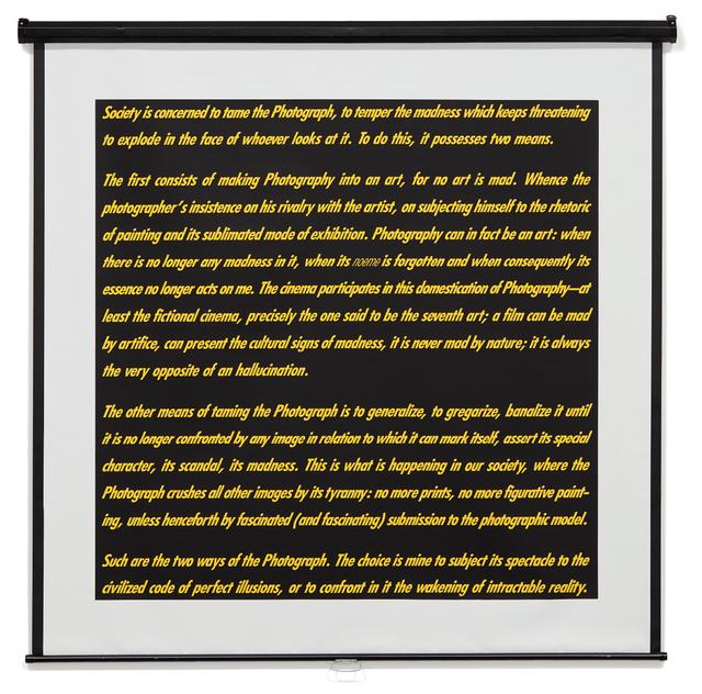 Alfredo Jaar, 'Reflexions', 1993, Phillips