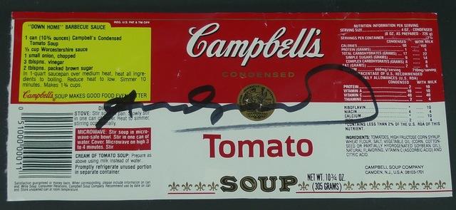 Andy Warhol, 'Campbells Soup Label', Bengtsson Fine Art