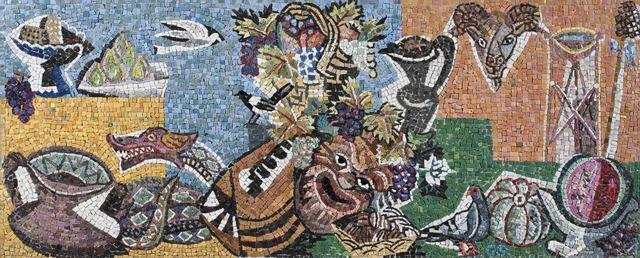 Gino Severini, 'Omaggio a Bacco', 1936, Design/Decorative Art, Mosaic on panel, Alon Zakaim Fine Art