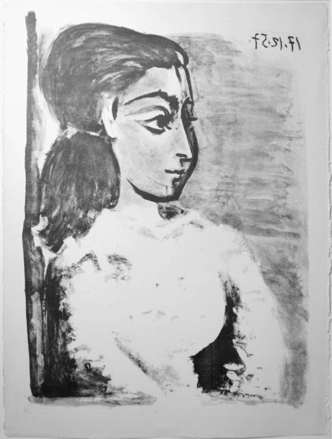 , 'Buste de Femme au Corsage blanc (Jacqueline de profil),' 17.12.1957, Galerie Ostendorff