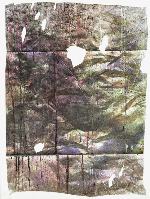 , 'Residual Monoprint II (Cracked Screen),' 2016, Fleisher/Ollman