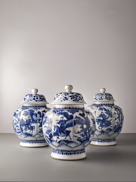 , 'Hunters,' China, Kangxi period (1662, 1722) c.1700, Vanderven Oriental Art