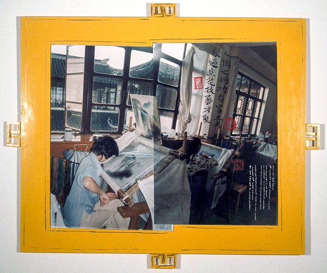, 'Silk Embroidery Factory Worker,' 2001, Rosamund Felsen Gallery
