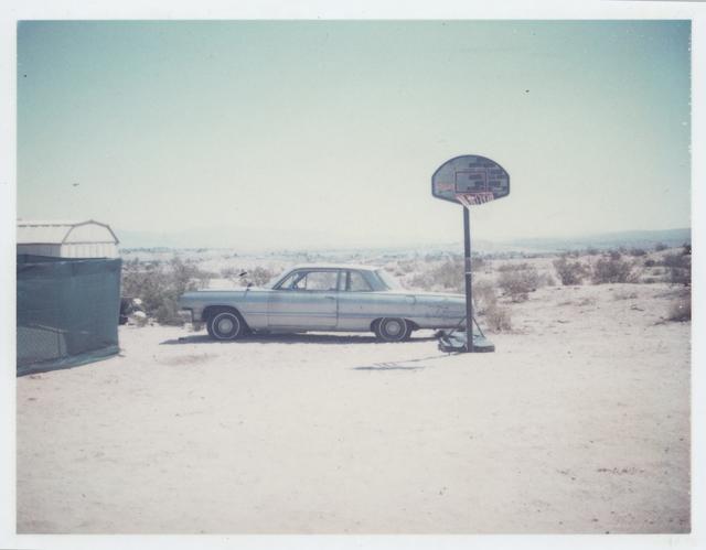 Stefanie Schneider, 'Blue Cadillac (29 Palms, CA)', 1999, Photography, Digital C-Print based on a Polaroid, not mounted, Instantdreams