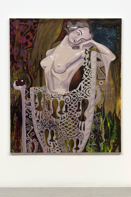 , 'Woman with Peacock,' 2017, Jessica Silverman Gallery