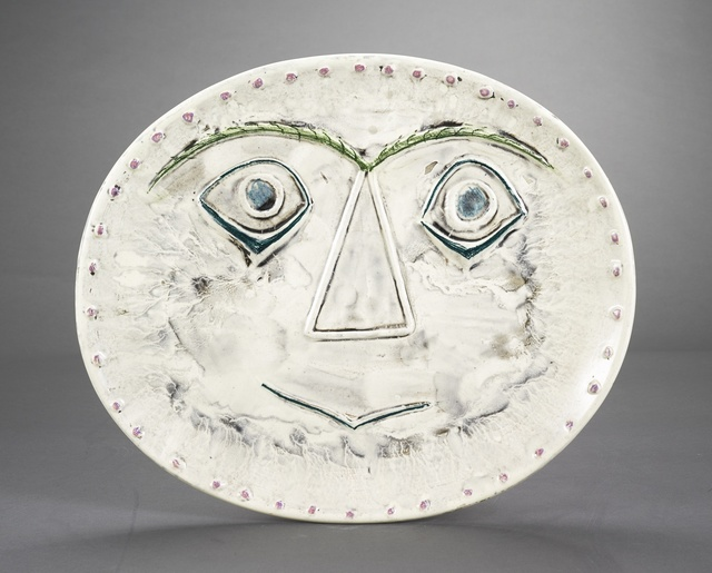 Pablo Picasso, 'Visages géométrique (recto); Pastelles et patine (verso) (A.R. 357)', 1956, Sotheby's