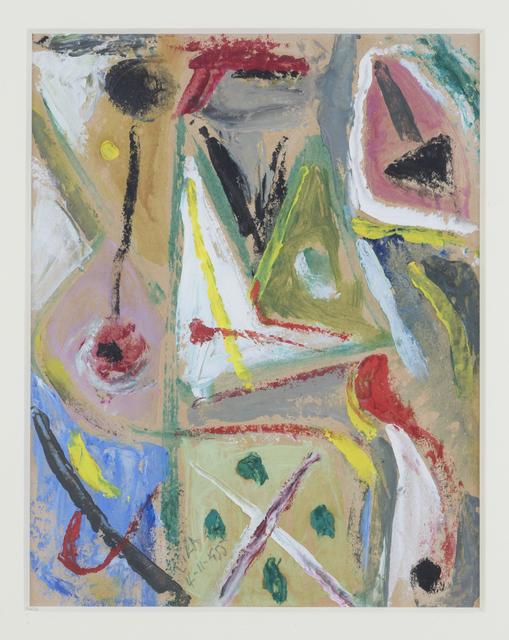 , 'Juego con lineas y colores, 4-11-1955,' 1955, Hutchinson Modern