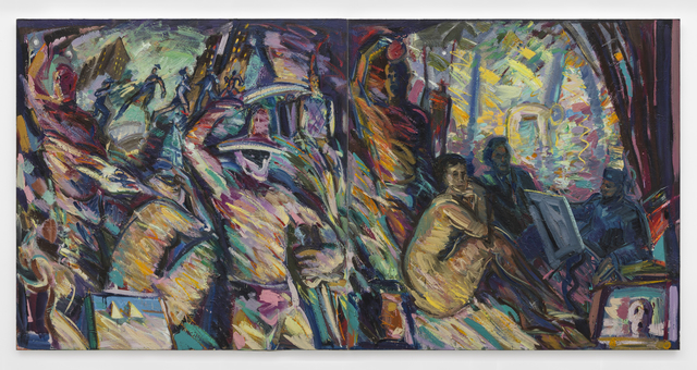 Carlos Almaraz, 'Yesterday and Today, diptych', 1986, Edward Cella Art and Architecture
