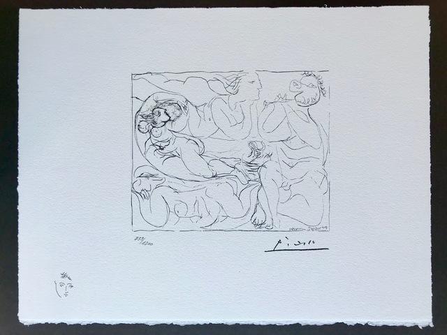 Pablo Picasso, 'Flûtiste et trois femmes nues (Suite Vollard Planche XI)', 1973, ByNewArt