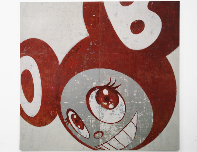 Takashi Murakami, 'And Then, And Then And Then And Then And Then (Red)', 1996, Painting, Acrylic on canvas, mounted on board, MCA Chicago