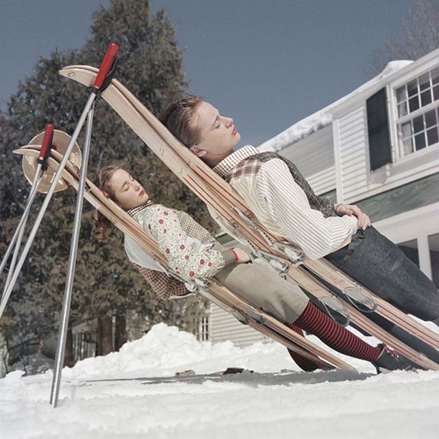 , 'New England Skiing, 1955: Two women recline on improvised sunbeds in Cranmore Mountain, New Hampshire,' 1955, Staley-Wise Gallery