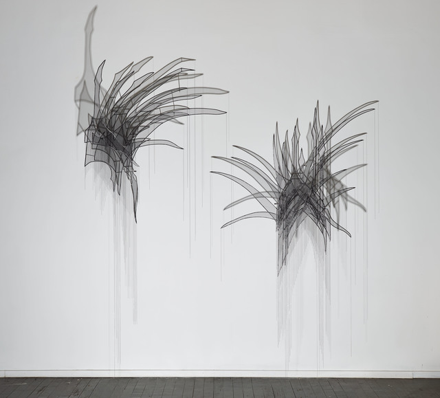 , 'Head Feather I and Head Feather II,' 2017, Sophia Contemporary