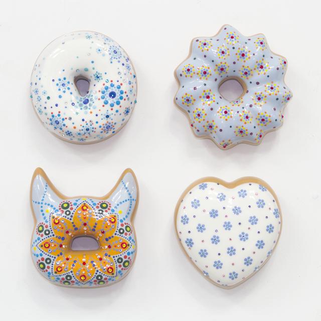 , 'Blue Donuts,' 2018, Lyons Wier Gallery