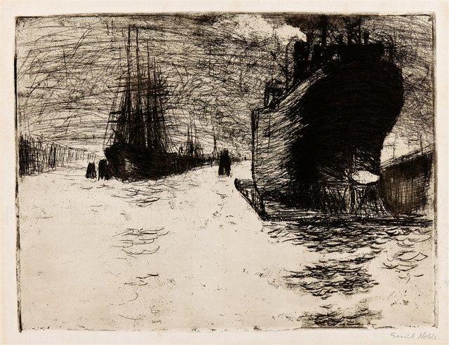 , 'Hamburg, Reiherstiegdock,' 1910, Alice Adam Ltd.