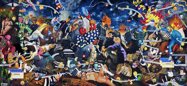 Philip Colbert, 'Dark Hunt Triptych', 2018, Unit London