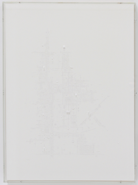 , 'PAPER DRAWING (West White on White),' 2015, Hosfelt Gallery