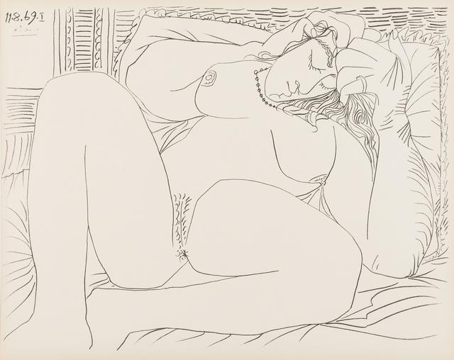 Pablo Picasso, 'Femme Nue, nos. 11.8.69, nos. I & VI', 1969, Reproduction, Two lithographs, Forum Auctions