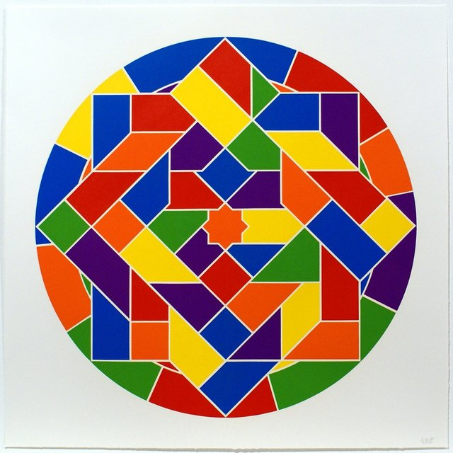 Sol LeWitt, 'Tondo 6 (8 point star)', 2002, Bernard Jacobson Gallery