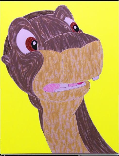 , 'Dinosaur Painting (yellow),' 2015, Evelyn Yard