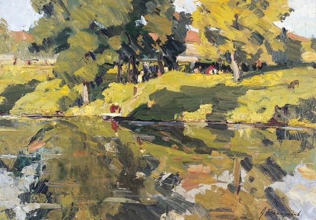 , 'Sunny day,' 1958, Surikov Foundation