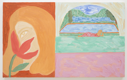 Girl with Flower Fresco