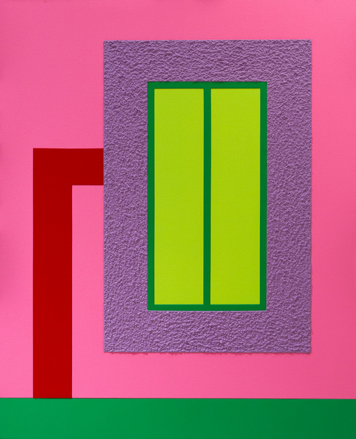 Peter Halley, 'Raising Hope l', 2013, Painting, Acrylic, Day-Glo acrylic and Roll-a-Tex on canvas, Corridor Contemporary