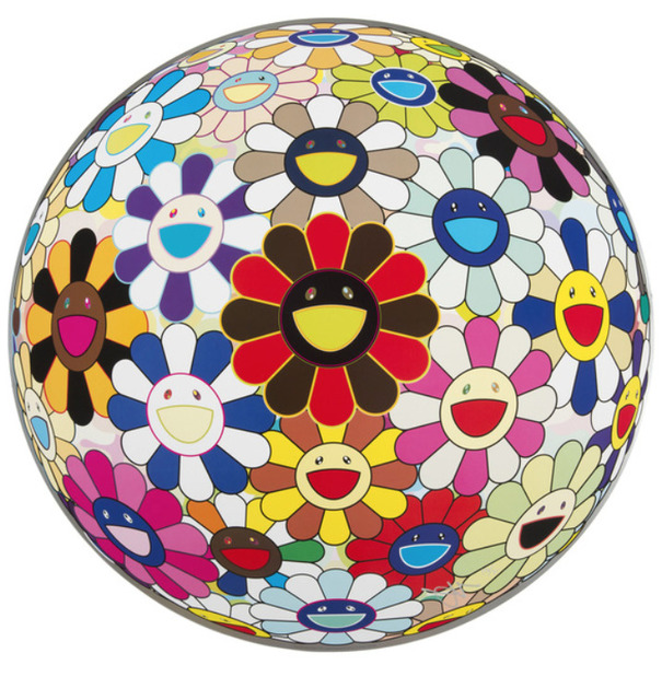 Takashi Murakami, 'FLOWERBALL (LOTS OF COLORS)', 2013, Print, Offset lithograph on paper, Marcel Katz Art