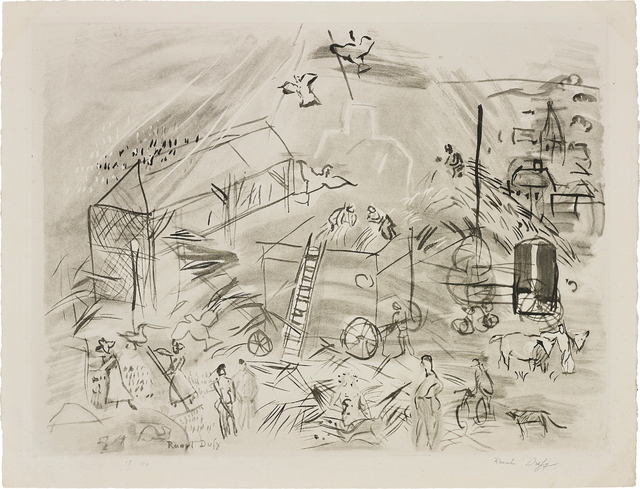 Joan Miró, 'Les Guetteurs (The Watchers); and Batteuse Paysage Champagne', 1964; and 1954, Print, Two lithographs, one in colours, on wove paper, the full sheet and with full margins., Phillips