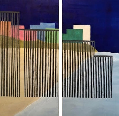 , 'Borders and Walls #3 (diptych),' 2018, George Lawson Gallery