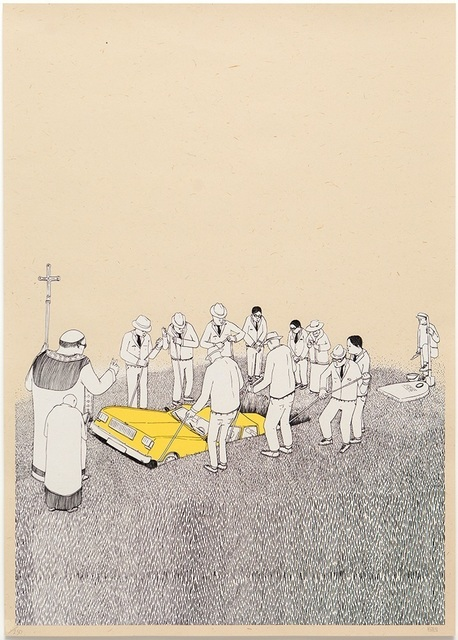 Blu, 'Funeral', Digard Auction