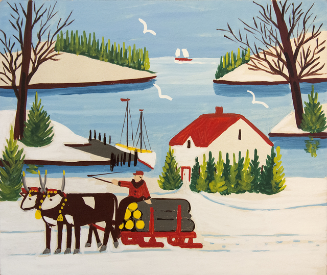 , 'Oxen with Logging Wagon,' , Oeno Gallery