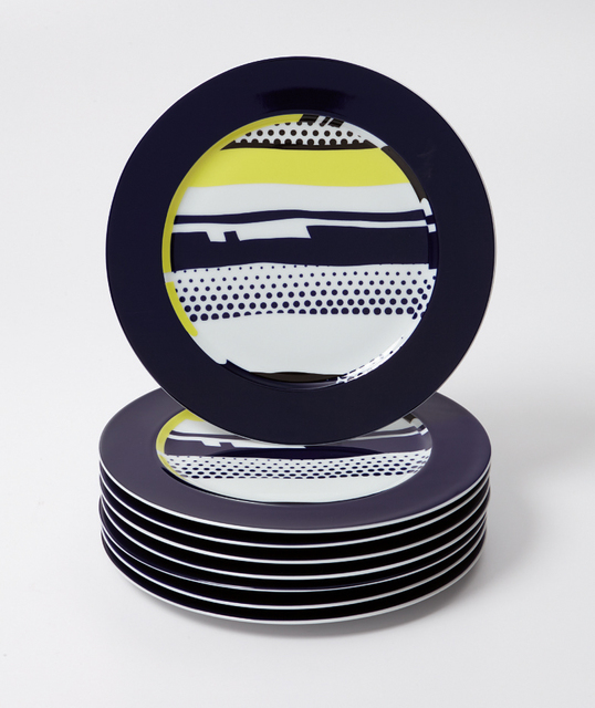 Roy Lichtenstein, 'Eight abstract service plates', 1990, Phillips