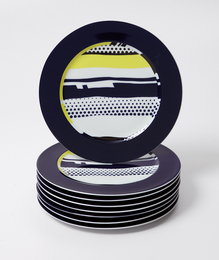 Roy Lichtenstein, 'Eight abstract service plates,' 1990, Phillips: Evening and Day Editions (October 2016)