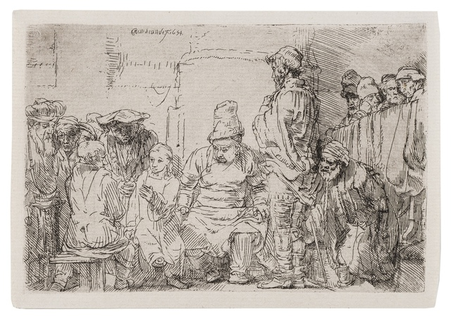 Rembrandt van Rijn, 'Christ seated disputing with the doctors', 1654, Forum Auctions