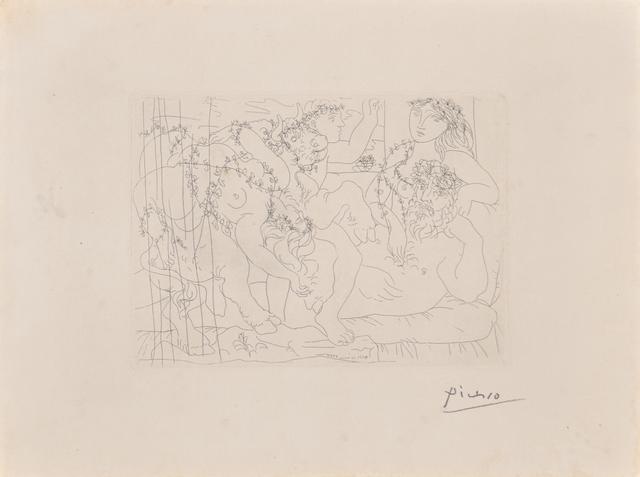 Pablo Picasso, 'Le Repos du Sculpteur Devant une Bacchanale auTaureau from La Suite Vollard, 1933', 1933, Rago/Wright