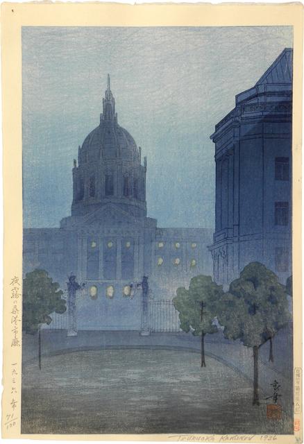 , 'Night Mist Over San Francisco City Hall,' 1936, Scholten Japanese Art