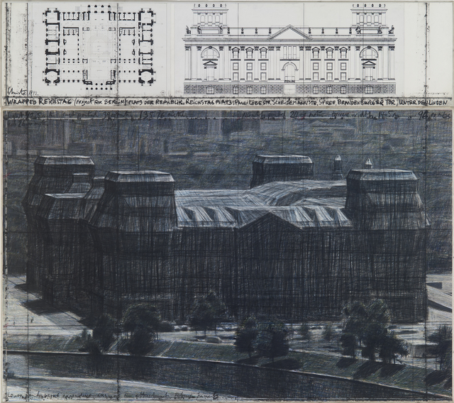, 'Wrapped Reichstag (Project for Berlin), 2 pieces,' 1992, Galerie Georg Nothelfer
